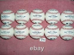 10 Rawlings Official Major League Leather Baseballs