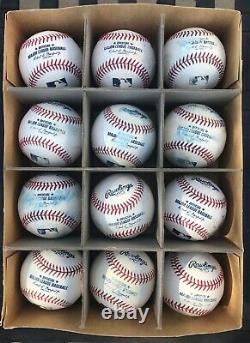 12 MLB Used Rawlings Official Major League Baseballs CLEAN SWEET SPOTS