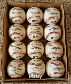 12 Rawlings Official Major League Baseball Game Used LOT MLB Balls 2021 Balls