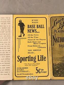 1908 Sporting Life's Official National & American League Baseball Schedules