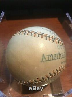 1913 1917 Reach Official American League Ban Johnson Baseball Vintage