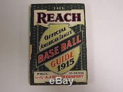 1915 The Reach Official American League Baseball Guide A. J. Reach Co
