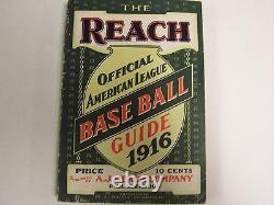1916 The Reach Official American League Baseball Guide A. J. Reach Co