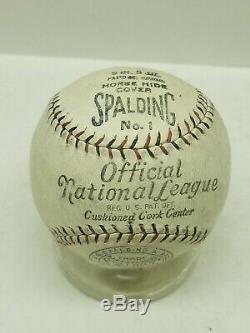 1920s 30s Origina Spalding Official National League Baseball -Red & Black Stitch