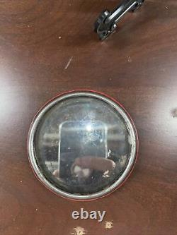 1920s WORTH BASEBALL POCKET MIRROR OFFICIAL LEAGUE 912-C Red & Black Stitches