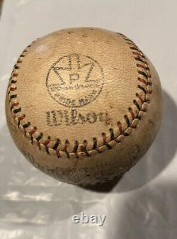 1924-1932 PACIFIC COAST LEAGUE black & red stitching OFFICIAL WILSON BASEBALL