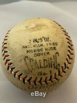 1926-27 Spalding Official National League Baseball (Heydler) -Red & Black Stitch