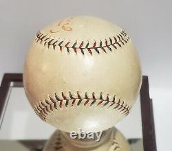 1929 Es Barnard Official American League Baseball Red & Blue Stitching Ex Rare