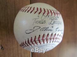 1930 A. G. Spalding Bros. J. Alvin Gardner TEXAS LEAGUE Official Baseball Unused