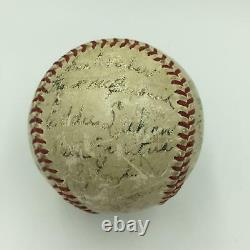 1941 Cincinnati Reds Team Signed Official National League Baseball With JSA COA
