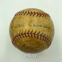 1942 Cleveland Indians Team Signed Official American League (Harridge) Baseball