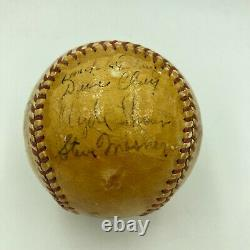 1944 Cincinnati Reds Team Signed Official National League Baseball JSA COA