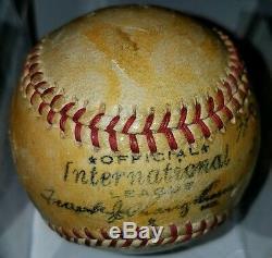 1944 International League Official vintage old SPALDING baseball 3 Sigs WW2 ERA