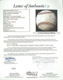 1947 Cincinnati Reds Team Signed Baseball Official National League Baseball JSA