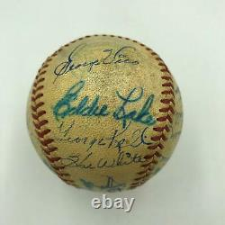 1948 Detroit Tigers Team Signed Official American League Baseball With 26 Sigs
