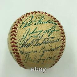 1949 Detroit Tigers Team Signed Official American League Baseball With 25 Sigs