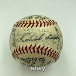 1955 Cleveland Indians Team Signed Official American League Baseball Larry Doby