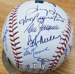 1962 Mets Team Ball Autographed Official Major League Baseball COA 19 Signatures