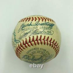 1963 Detroit Tigers Team Signed Official American League Baseball With JSA COA