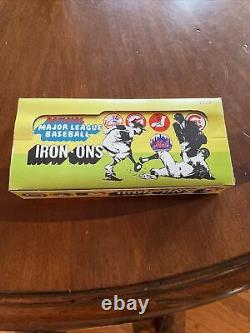 1968 Fleer Official Major League Baseball Iron Ons Full Box 24 Packs Mib