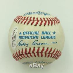 1980's Kirby Puckett Signed Official American League Baseball JSA COA