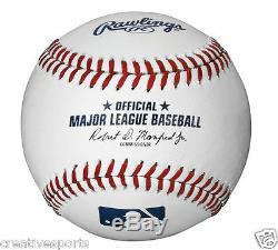1/2 Dzn Rawlings Official Leather Major League Baseballs Mlb Romlb Qty 6 Manfred