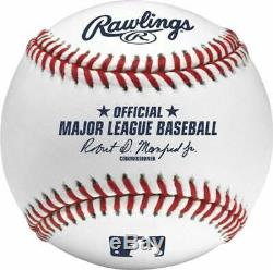 (6) Rawlings Official Major League MLB Baseball Manfred Half Dozen Boxed