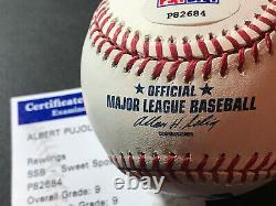 Albert Pujols Autographed Official Major League Baseball PSA Authentication