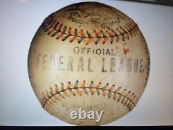Antique OFFICIAL FEDERAL LEAGUE Baseball