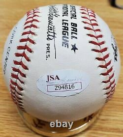 Autographed CARL HUBBELL Official National League Baseball with JSA COA