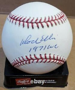 Autographed DOCK ELLIS 1971 WC Official Major League Baseball withCOA