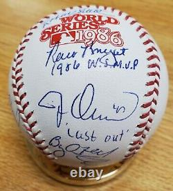 Autographed Mets Team, 21 Sigs Official 1986 World Series Major League Baseball