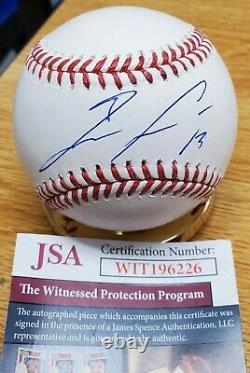 Autographed Ronald Acuna, Jr Rawlings Official Major League Baseball JSA COA