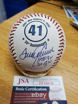 Autographed TOM SEAVER HOF 92 20th Ann. Official Major League Baseball JSA