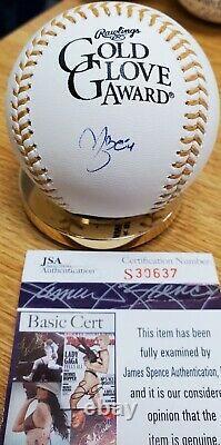 Autographed YADIER MOLINA Official Gold Glove Major League Baseball withJSA COA