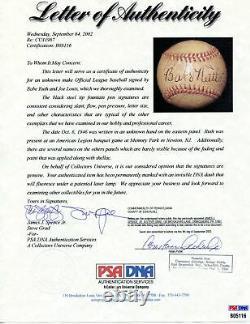 Babe Ruth/Joe Louis Signed/Auto 1946 Official League Baseball PSA/DNA 162196