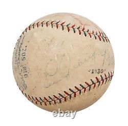 Babe Ruth & Lou Gehrig Signed 1928 Official American League Baseball JSA COA