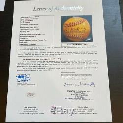 Babe Ruth Single Signed Official American League Baseball Bold Signature JSA COA