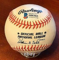 Barry Bonds Signed Official National League Baseball Beckett BAS Auto S06461