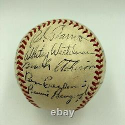 Beautiful 1944 Boston Braves Team Signed Official National League Frick Baseball