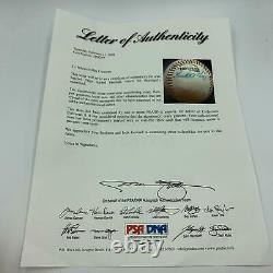 Beautiful Satchel Paige Single Signed Official Negro League Baseball PSA DNA COA