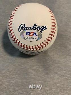 Bo Bichette Signed Official Major League Baseball Psa Dna Coa Blue Jays Auto