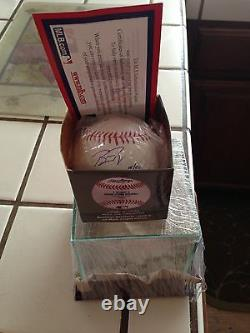 Buster Posey Auto Signed Rawlings Official Major League Baseball Giants 2012