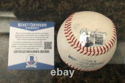 CLAYTON KERSHAW AUTOGRAPHED OFFICIAL MAJOR LEAGUE BASEBALL WithBECKETT COA DODGERS