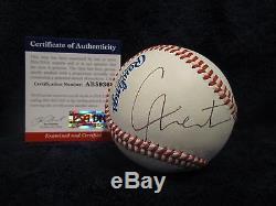 Cam Newton (NFL QB) Autographed Official League Baseball PSA Cert