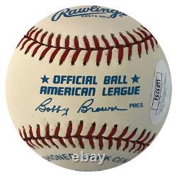 Carl Yastrzemski Autographed Official American League Baseball (JSA)