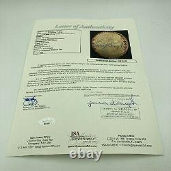 Casey Stengel Signed Game Used Official National League Baseball JSA COA