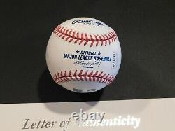 DEREK JETER Signed / Autographed Official Major League Baseball JSA LOA