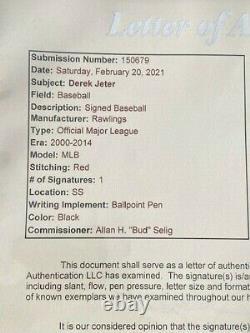 DEREK JETER Signed Official Major League Baseball FULL JSA LOA Yankees HOF