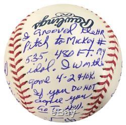 Denny McLain Multi Inscribed Stat Autographed Official Major League Baseball